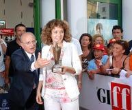 Valeria Golino alGiffoni filmfestival 2011 Royaltyfri Bild