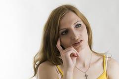 Valeria pensive horizontal royalty free stock image