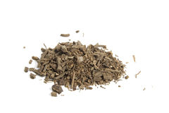 Valerian. Cut valerian root on a white background Stock Photo