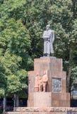 Valerian Kuibyshev Monument, Dushanbe, Tadzjikistan Stock Afbeeldingen