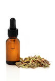 Valerian Root and Tincture Bottle Stock Photos