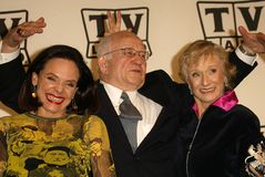 Valerie Harper, Ed Asner, Cloris Leachman Stock Photography