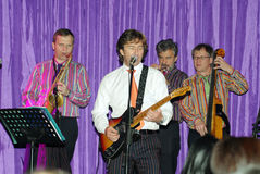 Valeriy Sutkin. Popular russian singer Valeriy Sutkin and band Stock Images