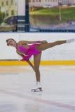 Valeriya Shevchuk de Rússia executa o programa de patinagem livre das meninas da classe IV do ouro no campeonato nacional da pati Foto de Stock Royalty Free