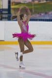 Valeriya Shevchuk de Rússia executa o programa de patinagem livre das meninas da classe IV do ouro no campeonato nacional da pati Imagens de Stock Royalty Free
