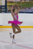 Valeriya Shevchuk de Russie exécute le programme de patinage gratuit de filles de la classe IV d'or sur le championnat national d Images libres de droits