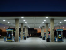 Valero加油站细节,史密斯堡,阿肯色 免版税库存照片