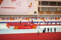 Valery Muratov-Blitzkopie der olympischen Fackel in Kolomna Lizenzfreie Stockfotos