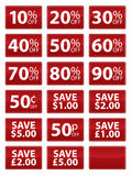 Vales da venda Imagens de Stock