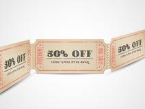 Vales da venda do vintage do vetor Fotografia de Stock