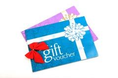 Vales del regalo Foto de archivo libre de regalías