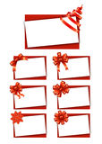 Vales-oferta com fitas Fotografia de Stock Royalty Free