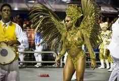 Valeska Reis - Império DE Casa Verde - Carnaval - São Paulo, Brazilië 2015 Stock Afbeelding