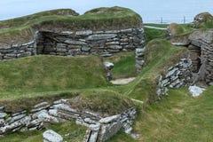 Valet av fördärvar på Skara Brae, Orkney, Skottland Royaltyfria Bilder