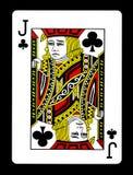 Valet de trèfle jouant la carte, Images libres de droits