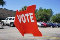 Valet röstar tecknet Royaltyfri Foto