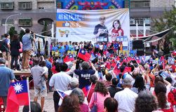 Valet samlar i Taiwan fotografering för bildbyråer