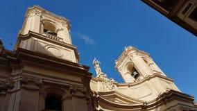 Valeta Malta arkitekturdetalj Arkivfoto