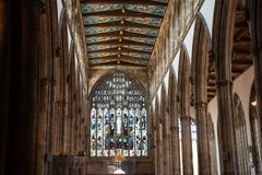 Valete da igreja paroquial Yorkshire da casca Fotografia de Stock Royalty Free