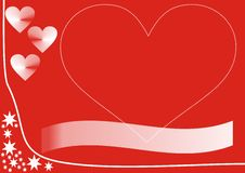 Valetine card design. Red and white valetine card design Royalty Free Stock Images