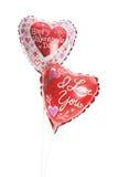 Valetine Mylar Balloons. 2 heart shaped mylar balloons Stock Photos