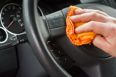 Valeting the car Royalty Free Stock Image