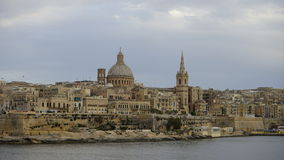 Valetta city, Malta. Panoramic view of Valetta capital city of Malta Royalty Free Stock Images