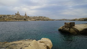 Valetta city, Malta. Panoramic view of Valetta capital city of Malta Royalty Free Stock Photo