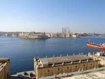 Valetta Docks on a hot summer day. Valetta is the Capital of Malta. This is the docks Stock Photo