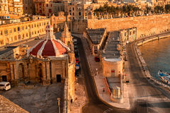Valetta at early morning Royalty Free Stock Images