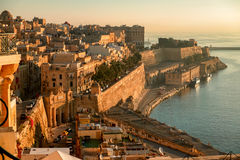 Valetta at early morning Royalty Free Stock Photo