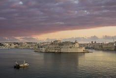 Valetta L'Isla. View from Valetta city walls towards L'Isla and Sant'Anglu Fort Royalty Free Stock Photo