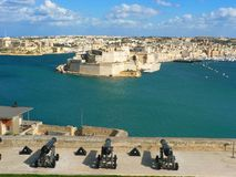 Valetta, Malta. Harbor view from Valetta, Malta Royalty Free Stock Photo