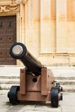 Valetta, Malta cannon in city Royalty Free Stock Photo