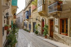Valetta, Malta - June 2018: Beautifull architecture in Valetta royalty free stock images