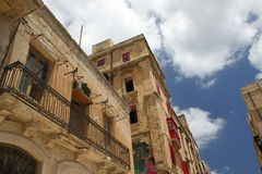Valetta old houses. Old houses in capital city Valetta . Malta Royalty Free Stock Images