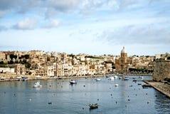 Valetta oude stad van de mening in Malta Stock Afbeelding