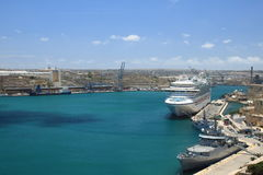 Valetta. Port of Valletta. Natural harbour on the island of Malta Royalty Free Stock Photo