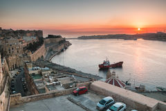 Valetta at sunrise Stock Photography