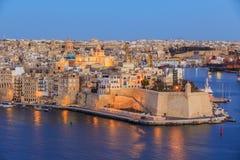 Valetta sunset in Malta Stock Photos
