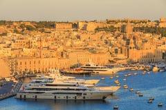 Valetta sunset in Malta Royalty Free Stock Photography