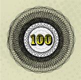 Valeur 100 Photographie stock