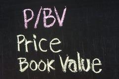 Valeur comptable des prix de P/BV image stock