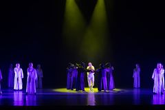 Valeur-danse Lutte-indépendante avec un ` de danse du ` s de masque-Huang Mingliang aucun ` d'abri Photographie stock libre de droits