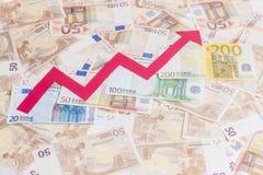 Valeur de l'euro augmentation photographie stock
