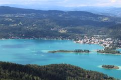 Valeur de lac, en Autriche Photo stock