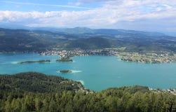 Valeur de lac, en Autriche Image libre de droits