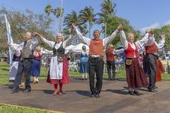 Valeur de lac, festival de la Floride, Etats-Unis le 3 mars 2019 Sun de minuit célébrant la culture finlandaise image stock