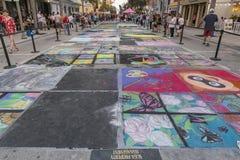 Valeur de lac, la Floride, Etats-Unis 23-24 ouvrier, 25ème festival annuel de peinture de la rue 2019 images stock
