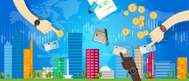 Valeur de logement des prix d'investissement du marché de maison de propriété Photo stock